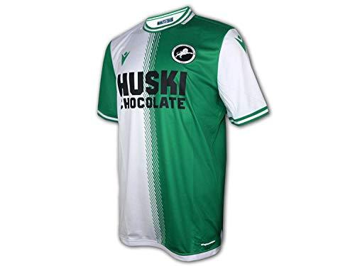 Macron FC Millwall Auswärts Trikot 20/21 grün weiß MLWL FC Away Shirt Fan Jersey, Größe:L