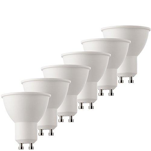 MÜLLER-LICHT 6er-SET LED Reflektorlampe, ersetzt, Plastik, GU10, 6.5 W, Nicht Dimmbar, 5 x 5 x 5.5 cm, 6 Einheiten