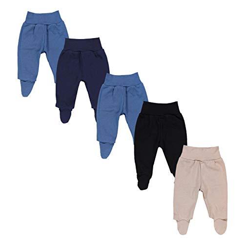 TupTam Pantalón con Pies de Bebé Pack de 5, Niño 2, 62