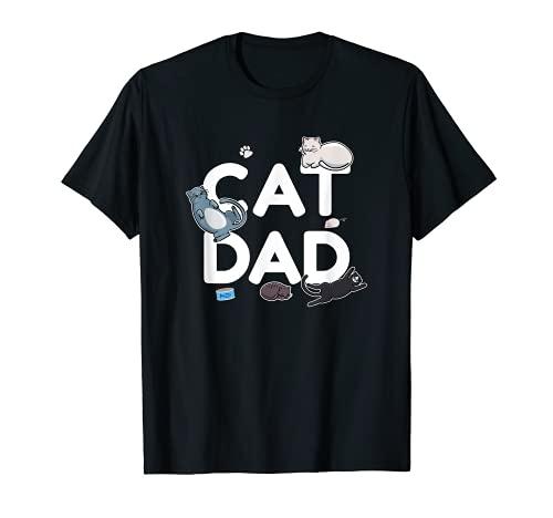 Hombre Cat Dad - Gatitos para dueños de gatos Camiseta