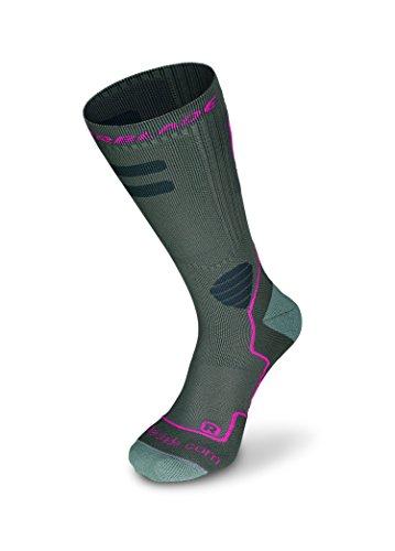 Rollerblade Damen High Performance Socken Inline Skating Multi Sport Dunkelgrau Pink Medium