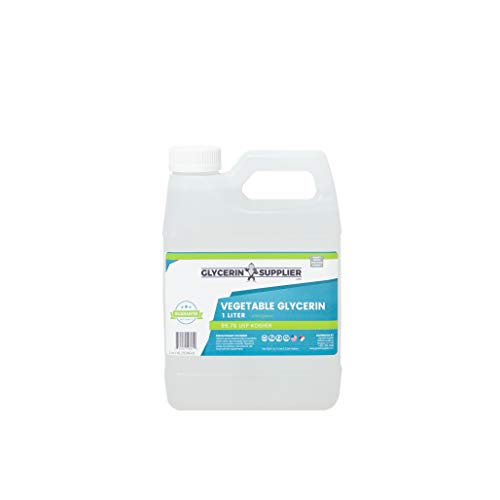Vegetable Glycerin - 1 Liter (33.814 oz.) - Pure USP Food and Pharmaceutical Grade - Non GMO - Vegan - Sustainable Palm Derived - Humectant, Crafts, DIY, Hypoallergenic Moisturizer, Extracts