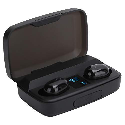 Fone de ouvido sem fio, controle de toque de impressão digital inteligente Pequeno em tamanho e leve Fones de ouvido com tela digital Bateria de alta capacidade Viagem para crianças e