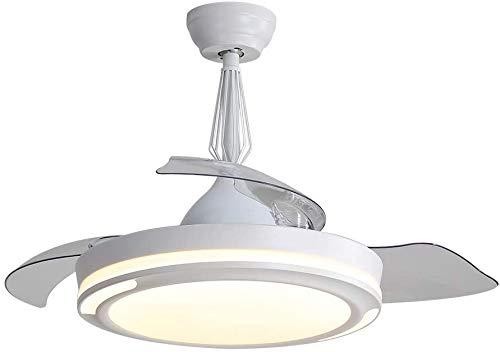 Ventiladores de techo invisibles de hoja retráctil y luces de control de ventiladores regulables 107cm remoto con velocidad ajustable