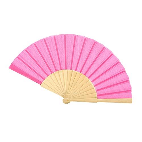 Colours & Beauty Abanico de mujer de madera rosa | Abanico de boda | Abanico de boda | Gadget boda | Abanico de boda personalizados | Abanico japonés | Abanico de ceremonia