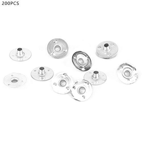 200 stuks metalen lontjes licht kaars basis sustainer tab voor het maken van kaarsen 14mm