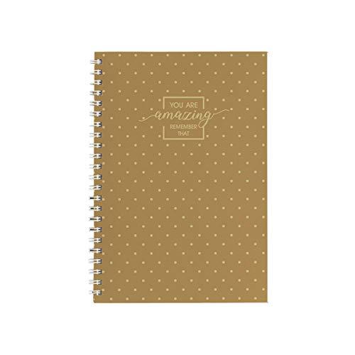 SPIRIT TTS Premium Spiral-Notizbuch Gold A5 Liniert Gold TTS 407534