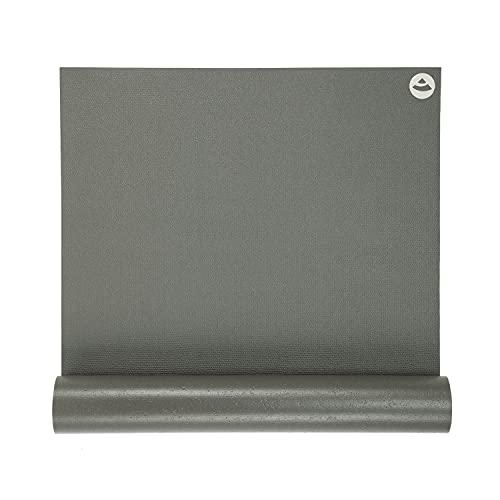 Yogamatte RISHIKESH PREMIUM 60, rutschfest, extra-stark, 4,5mm Studiomatte, Ökotex 100, 183 x 60 cm, maschinenwaschbar - Made in Germany (grau)