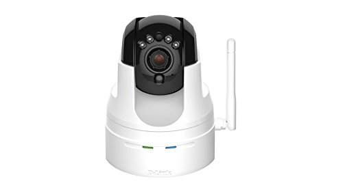 D-Link DCS-5222L/RE HD Pan/Tilt/Zoom Wi-Fi Camera, Two Way Audio and Built-in microSD Card Slot (Renewed)