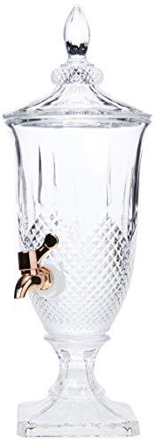 Dispenser De Cristal Ecológico C/torneira Cobre Diamante 2l Lyor Transparente No Voltagev