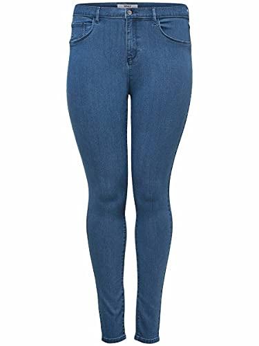ONLY Carmakoma Female Skinny Fit Jeans Curvy CARstorm Push up hw 42Medium Blue Denim