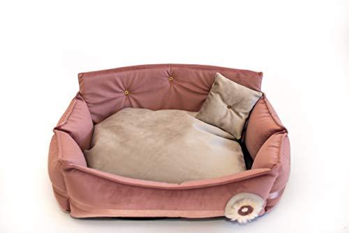 MOOI Hundebett Hundesofa Waschbar Hundekörbchen Exklusiv Katzenbett Haustierbett Hundekissen für kleine mittlere große Hunde I Dream
