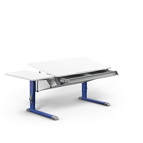 moll Bandit Füße Blau mit Side Top + Schublade Kinderschreibtisch, Holz^Metall, 42.2 kg