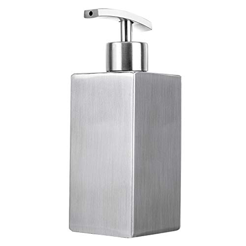 Dish Soap Dispenser Hand Lotion Bottle, Liquid Soap Dispenser for Kitchen and Bedroom, Countertop Stainless Steel Rust and Leak Proof System Refillable Hand Soap Dispenser (10 Oz /300ML)