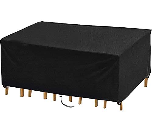 Funda para Muebles de jardín Impermeables Funda Mesa Exterior Varios Tamaños para Muebles Funda para Muebles de jardín Anti-UV Rectangular para Mesa de jardín 420D Oxford 210x180x70cm