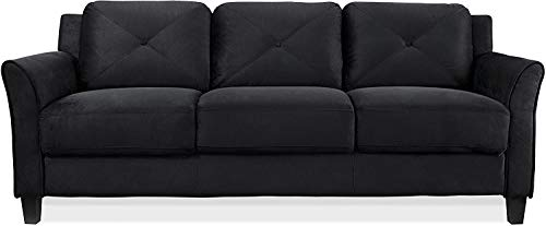 Sofa Couch/Grid Tufted Cushions/Easy, Tool-Free Assembly, Stone Grey