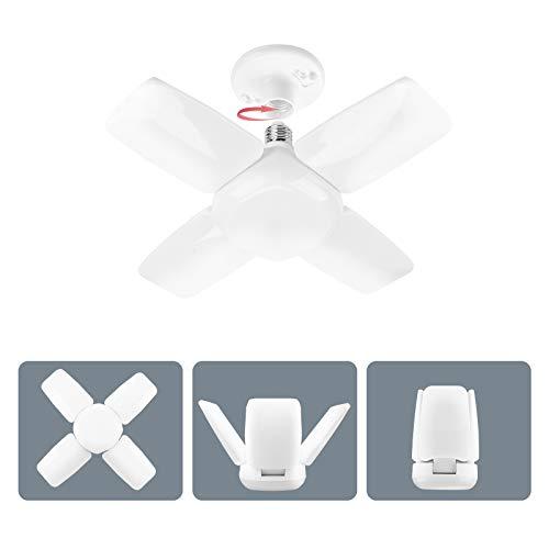 LED Garage Light, 70W 6500K Deformable LED Garage Light Bulb, Super Bright Garage LED Light, Adjustable Garage Lights Ceiling LED, Daylight Screw in LED Basement Light Fixture with E26 Light Socket