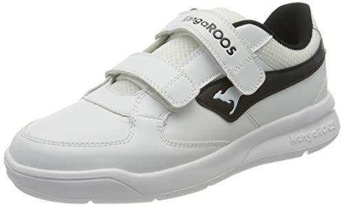 KangaROOS Unisex-Kinder K-Cope V Sneaker, White/Jet Black 0500, 37 EU