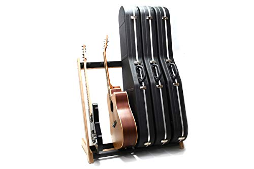 Ruach GR-2 Customisable 5 Way Multi Guitar Rack and Holder for Guitars and Cases - Birch