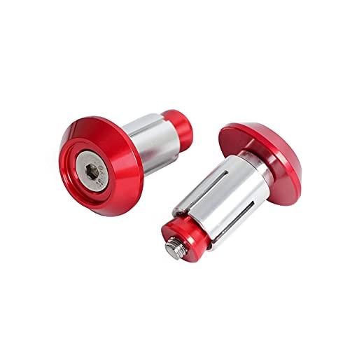 zis CNC Billet Manillar tapa enchufes encajan para bicicletas de suciedad MACHO Aventuras enduro de motocross A Vs scooters (Color : Red)