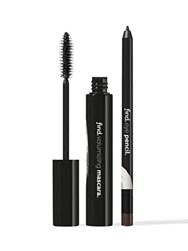 Amazon-Marke: find. Deep Secret -Volumen-Mascara (braun) + Augenkonturenstift (braun) mit Spitzer