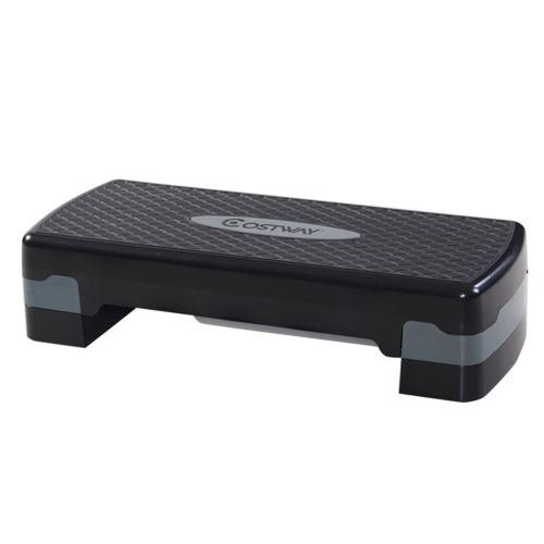 New 27'' Fitness Aerobic Step Adjust 4 - 6Exercise Stepper w/Risers Home Gym by Step Platforms