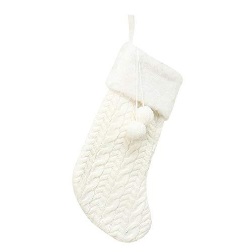 fansile kerstkousen, hangers, ornamenten, stof, kleine laarzen, hangers, Kerstmis, eenkleurig, decoratie van het huis, accessoires, geschenktas 18x43x22cm Wit