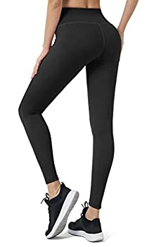 BOSTANTEN High Waist Workout Leggings for Women Tummy Control Yoga Pants Ultra Soft Athletic Running Tights with Inner Pocket Black Size M