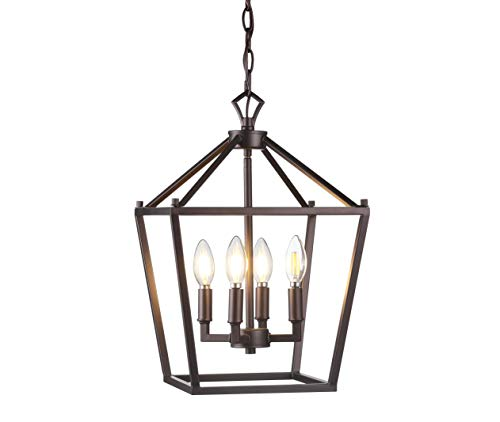 JONATHAN Y JYL7436A Pagoda Lantern Dimmable Adjustable Metal...