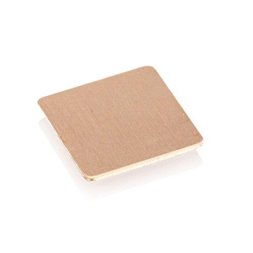 AABCOOLING Copper Pad 15x15mm - è Una rondella di Rame, termopad Realizzato in Rame di Alta qualità con Alta Conduttività Termica 401 W MK (1,0mm)