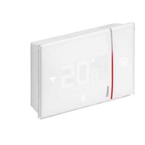 Bticino X8000W Termostato Connesso da Parete con Wi-Fi Integrato, 2 W, 230 V, Professionista, da Muro, Bianco