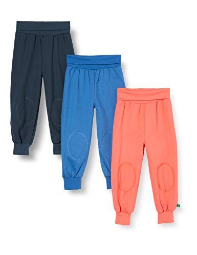 Fred's World by Green Cotton Baby-Jungen Alfa Pants Mix 3 Pack Hose, Blau (Midnight 019411006), (Herstellergröße: 56)