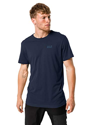 Jack Wolfskin Herren Essential T-Shirt, blau (night blue), XXXL