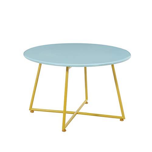 CSQ Table basse, créative Fer Art Table basse Balcon Chambre Service Commercial Bureau de réception multifonction petite table ronde (Color : B, Size