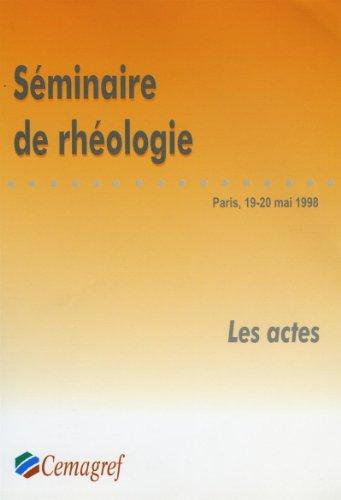 Séminaire de rhéologie (French Edition)