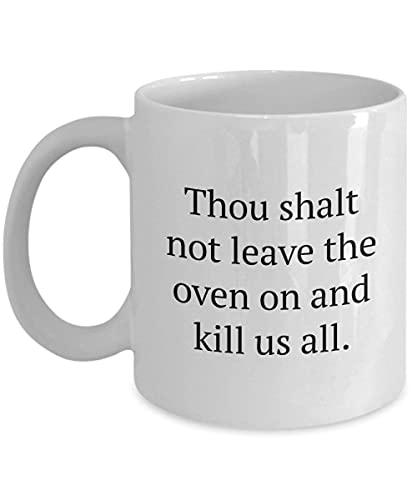 Regalo Divertido para compañero de Cuarto - Taza de café para compañero de Cuarto - No dejarás el Horno Encendido 11oz