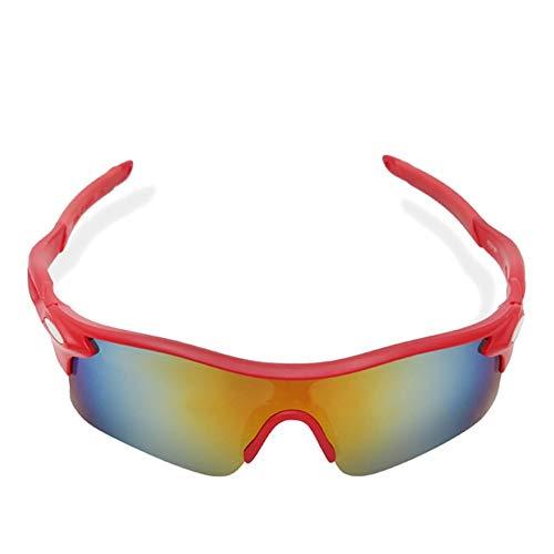 Chic Hombres Mujeres Ciclismo Montar en Bicicleta al Aire Libre Gafas de Sol Gafas Gafas de Deporte la Bici Proteger los Ojos de los anteojos (Color : Red)