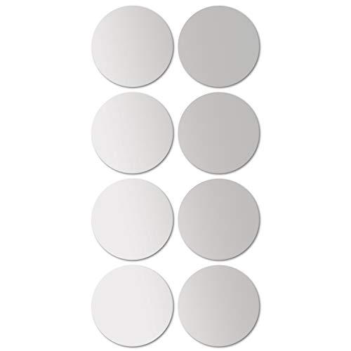 Juego baldosas espejo redondo 8 cada uno Ø20cm azulejo