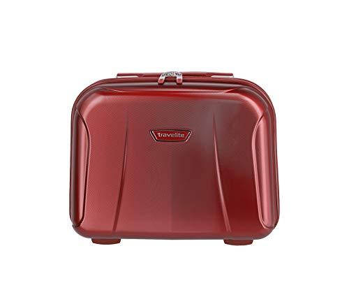 """Travelite Rollkoffer-Set: Klassisch-elegante, robuste Hartschalenkoffer """"Elbe"""" in vielen Größen und Farben Beauty Case da viaggio, 39 cm, 19 liters, Rosso (Rot)"""