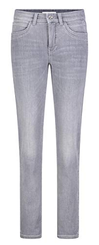MAC Jeans Damen Angela New Jeans, Light Random Star Grey, 34/30