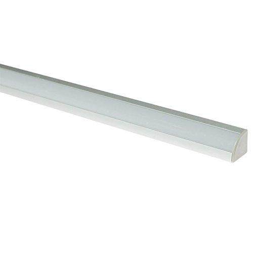 Profilé d'angle pour ruban LED en Aluminium avec Diffuseur opale blanc Longueur 2,5 m 21 x 21 mm