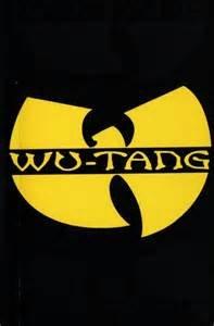 Wu Tang Logo mit Wort – Vinyl – 10,2 cm breit (Farbe: gelb) Aufkleber für Laptop Tablet Skateboard Auto Fenster Aufkleber