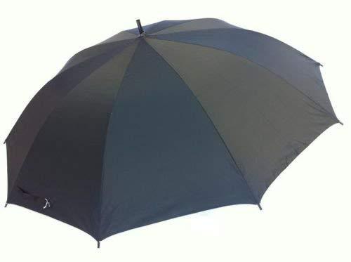 DRULINE 82 cm Großer Stabiler Regenschirm Stockschirm Schirm Automatik Umbrella Schwarz
