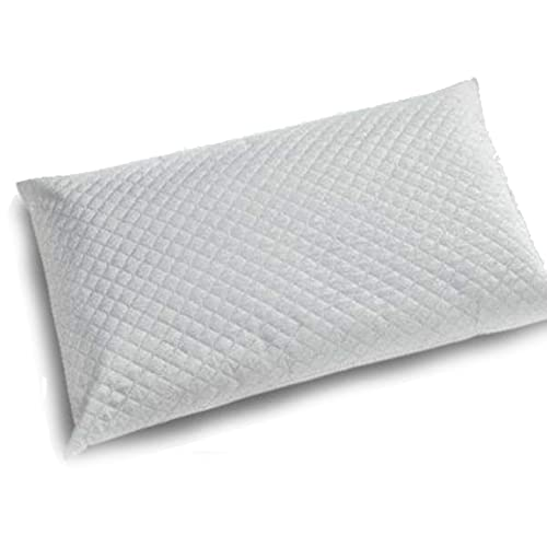 ALProduction - Cojín de fibra siliconada, 50 x 80 cm, transpirable e hipoalergénico, almohada acolchada, 450 g de relleno de microfibra, suave y cómodo, para cama individual o de matrimonio