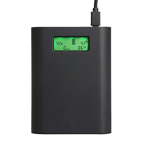Docooler Soshine Ladegerät Power Bank Ladebox Universal LCD-Display 4 Schacht Plug Ladestation für 18650 Akkus Professionelles Ladegerät Multifunktions 30W Schnellladung