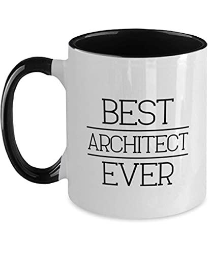 N\A Funny Architect Two Tone Mug - Best Architect Ever - Divertido, Sarcasmo cumpleaños para Amigos, compañeros de Trabajo, Hombres, Mujeres