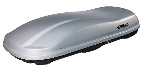 Coffre de toit FARAD MARLIN F3 680L gris métallisé