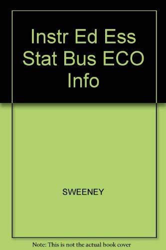 Instr Ed Ess Stat Bus ECO Info