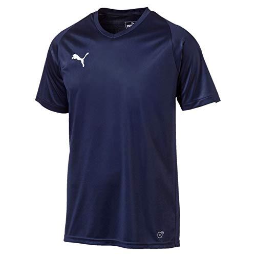 PUMA Herren Liga Jersey Core Jersey, blau (Peacoat-Puma White), 50-52