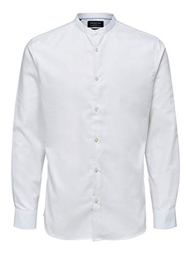 SELECTED HOMME Male Hemd Mandarinkragen XLBright White